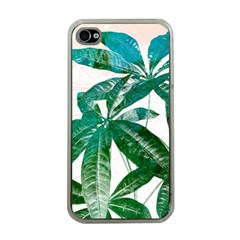 Pachira Leaves  Apple Iphone 4 Case (clear) by DanaeStudio