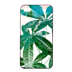 Pachira Leaves  Apple Iphone 4/4s Seamless Case (black) by DanaeStudio