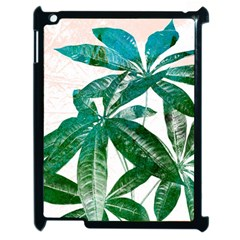 Pachira Leaves  Apple Ipad 2 Case (black) by DanaeStudio