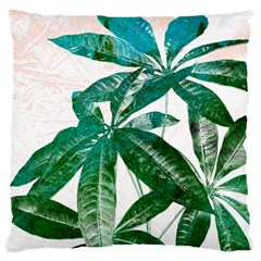 Pachira Leaves  Large Cushion Case (two Sides) by DanaeStudio