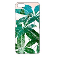 Pachira Leaves  Apple Seamless Iphone 5 Case (clear) by DanaeStudio