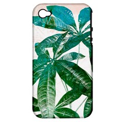 Pachira Leaves  Apple Iphone 4/4s Hardshell Case (pc+silicone) by DanaeStudio