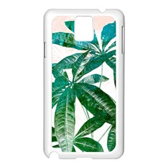 Pachira Leaves  Samsung Galaxy Note 3 N9005 Case (white) by DanaeStudio