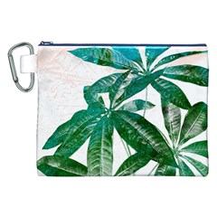 Pachira Leaves  Canvas Cosmetic Bag (xxl) by DanaeStudio
