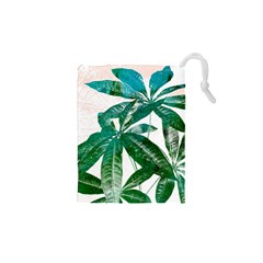 Pachira Leaves  Drawstring Pouches (xs)  by DanaeStudio