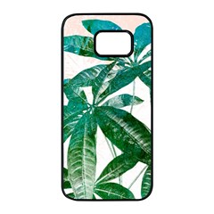 Pachira Leaves  Samsung Galaxy S7 Edge Black Seamless Case by DanaeStudio