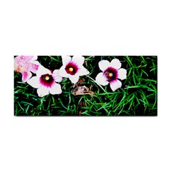 Pink Flowers Over A Green Grass Cosmetic Storage Cases by DanaeStudio