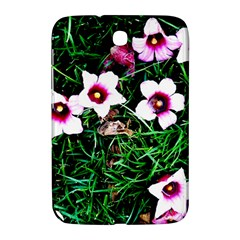 Pink Flowers Over A Green Grass Samsung Galaxy Note 8 0 N5100 Hardshell Case  by DanaeStudio