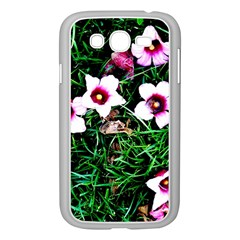 Pink Flowers Over A Green Grass Samsung Galaxy Grand Duos I9082 Case (white) by DanaeStudio