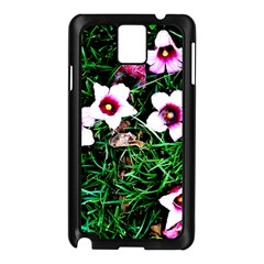 Pink Flowers Over A Green Grass Samsung Galaxy Note 3 N9005 Case (black) by DanaeStudio