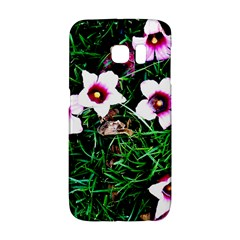 Pink Flowers Over A Green Grass Galaxy S6 Edge by DanaeStudio