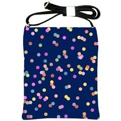 Playful Confetti Shoulder Sling Bags by DanaeStudio