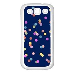 Playful Confetti Samsung Galaxy S3 Back Case (white) by DanaeStudio