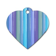 Provence Fields Lavender Pattern Dog Tag Heart (one Side) by DanaeStudio