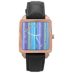 Provence Fields Lavender Pattern Rose Gold Leather Watch  by DanaeStudio