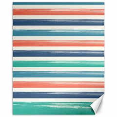Summer Mood Striped Pattern Canvas 11  X 14   by DanaeStudio
