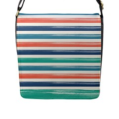 Summer Mood Striped Pattern Flap Messenger Bag (l)  by DanaeStudio