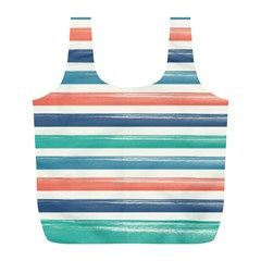 Summer Mood Striped Pattern Full Print Recycle Bags (l)  by DanaeStudio