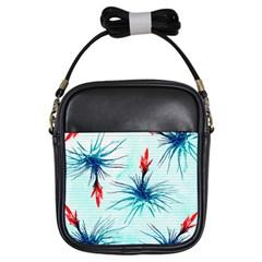 Tillansia Flowers Pattern Girls Sling Bags by DanaeStudio