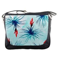 Tillansia Flowers Pattern Messenger Bags by DanaeStudio
