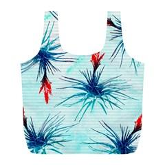 Tillansia Flowers Pattern Full Print Recycle Bags (l)  by DanaeStudio