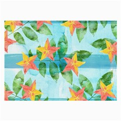 Tropical Starfruit Pattern Large Glasses Cloth (2 Side) by DanaeStudio