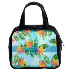 Tropical Starfruit Pattern Classic Handbags (2 Sides) by DanaeStudio