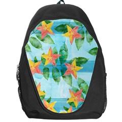 Tropical Starfruit Pattern Backpack Bag by DanaeStudio