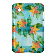 Tropical Starfruit Pattern Samsung Galaxy Tab 2 (7 ) P3100 Hardshell Case  by DanaeStudio
