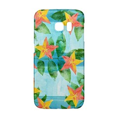 Tropical Starfruit Pattern Galaxy S6 Edge by DanaeStudio