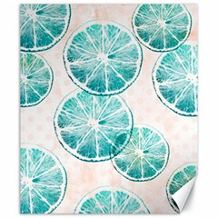 Turquoise Citrus And Dots Canvas 20  X 24   by DanaeStudio