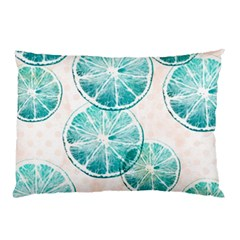 Turquoise Citrus And Dots Pillow Case by DanaeStudio