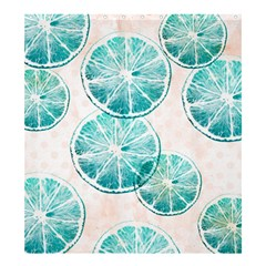 Turquoise Citrus And Dots Shower Curtain 66  X 72  (large)  by DanaeStudio