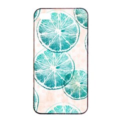 Turquoise Citrus And Dots Apple Iphone 4/4s Seamless Case (black) by DanaeStudio