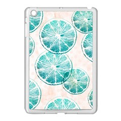 Turquoise Citrus And Dots Apple Ipad Mini Case (white) by DanaeStudio