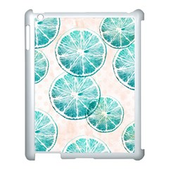 Turquoise Citrus And Dots Apple Ipad 3/4 Case (white) by DanaeStudio