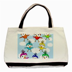 Cute Colorful Birds  Basic Tote Bag (two Sides) by Valentinaart
