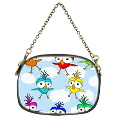 Cute Colorful Birds  Chain Purses (two Sides)  by Valentinaart