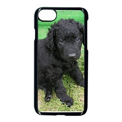 Curly Coated Retriever Puppy Apple iPhone 7 Seamless Case (Black) by TailWags