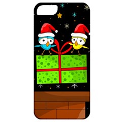 Cute Christmas Birds Apple Iphone 5 Classic Hardshell Case by Valentinaart