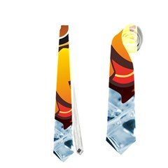 Chocolate Wow Neckties (two Side)  by Onesevenart