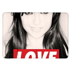 Sasha Grey Love Samsung Galaxy Tab 8 9  P7300 Flip Case by Onesevenart