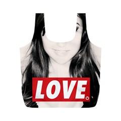 Sasha Grey Love Full Print Recycle Bags (m)  by Onesevenart