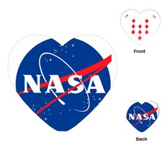 Nasa Logo Playing Cards (heart)  by Onesevenart