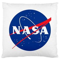 Nasa Logo Large Cushion Case (two Sides) by Onesevenart