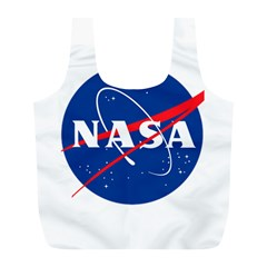 Nasa Logo Full Print Recycle Bags (l)  by Onesevenart