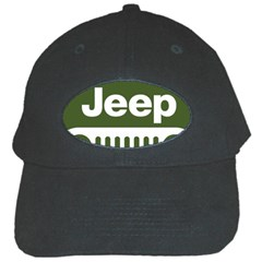 Only In A Jeep Logo Black Cap by Onesevenart