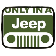 Only In A Jeep Logo Netbook Case (large)