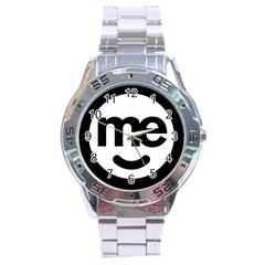 Me Logo Stainless Steel Analogue Watch by Onesevenart