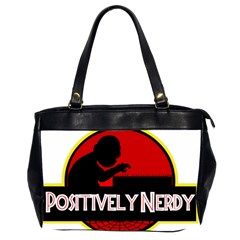Positively Nerdy Office Handbags (2 Sides)  by Onesevenart